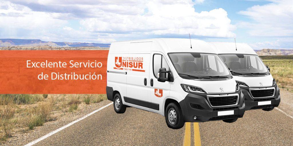 Vehículos utilizados por Emporio Unisur para su servicio de distribución de alimentos o delivery