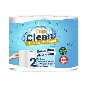 TOALLA PAPEL ABOSERBENTE 32 MTS DH TOP CLEAN